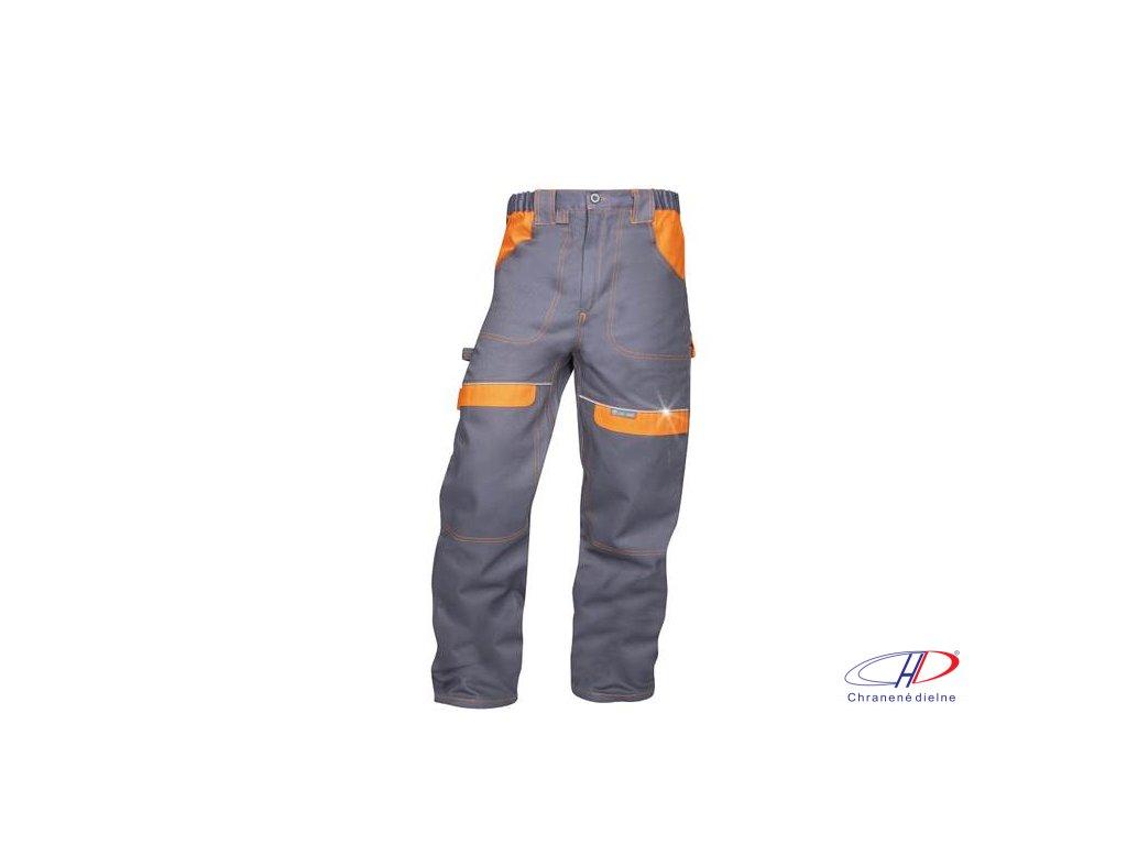 Nohavice do pása COOL TREND sivo-oranžové 60