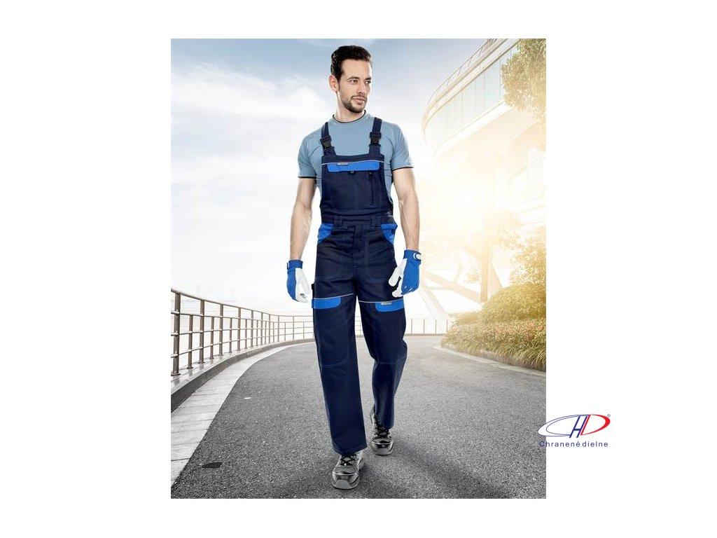 Nohavice s náprsenkou COOL TREND tm.modré-sv.modré 46