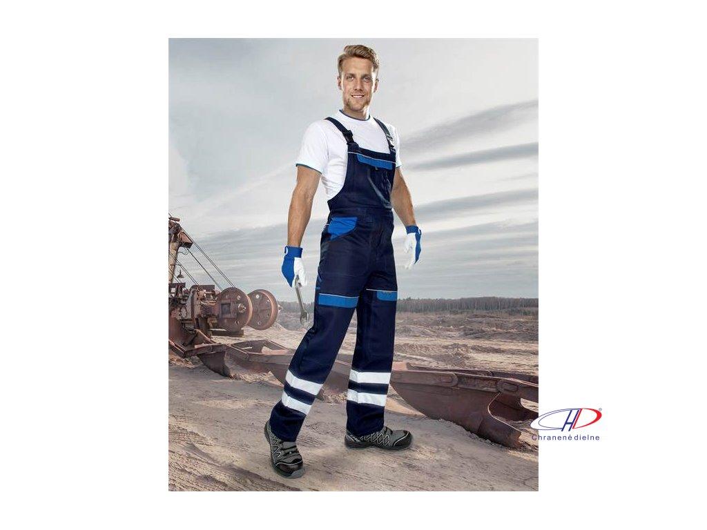 Reflexné nohavice s náprsenkou COOL TREND tm.modré-sv.modré 46