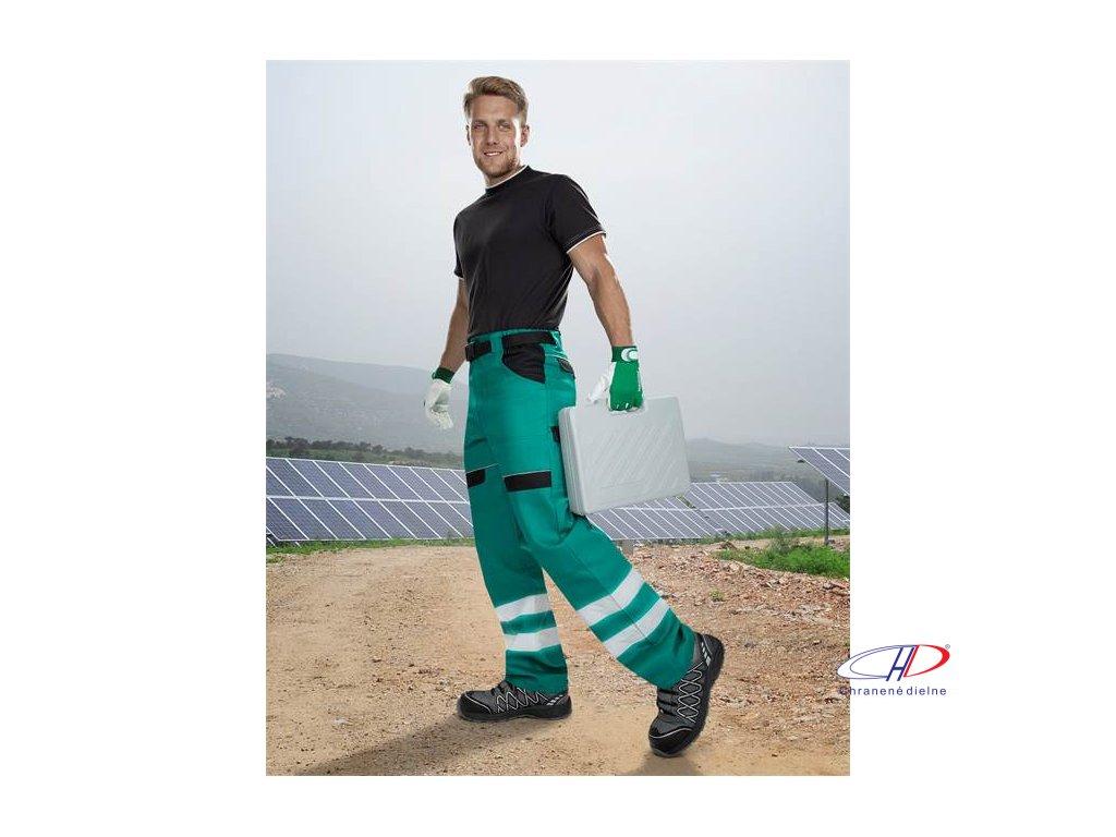 Reflexné nohavice do pása COOL TREND zelené 46