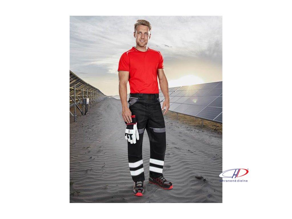 Reflexné nohavice do pása COOL TREND čierno-sivé 46