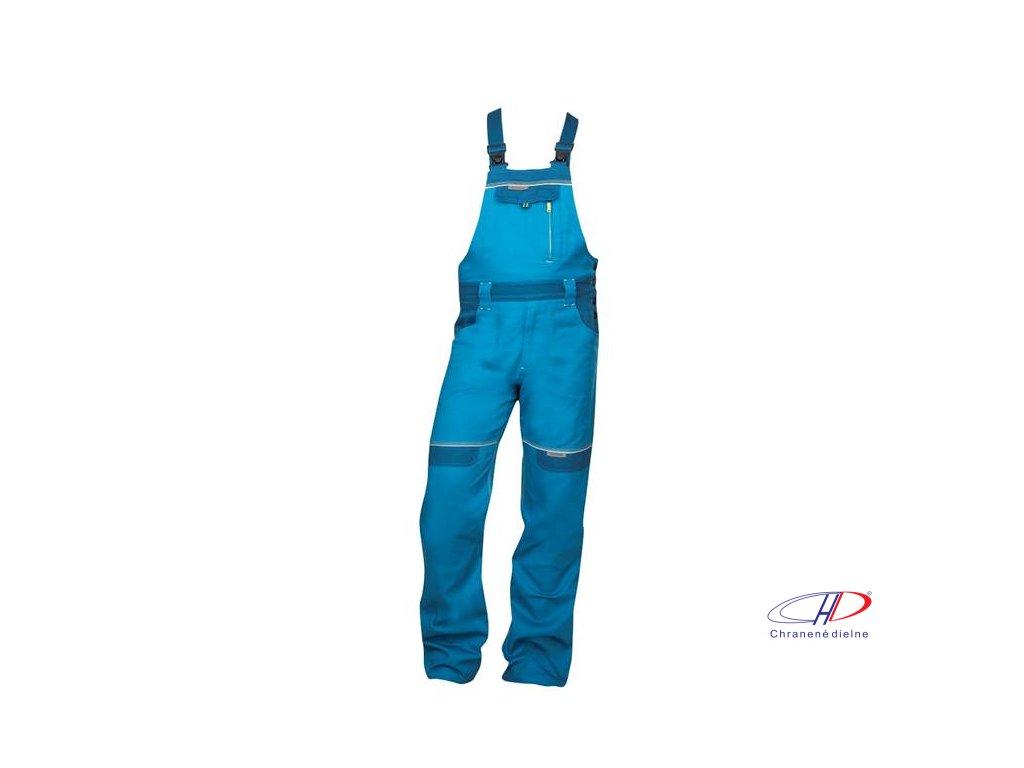 Nohavice s náprsenkou COOL TREND skrátené stredne modré S