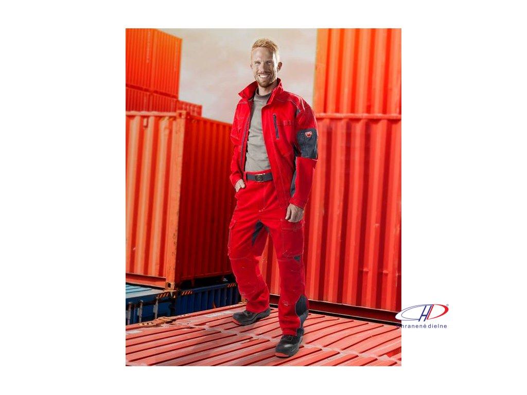 Blúza VISION 01 červeno-sivá, 170 cm 46