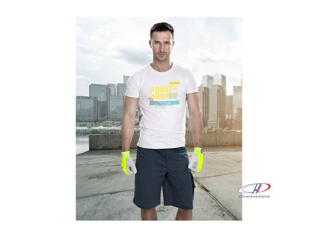 Tričko 4Tech powerwork biele S