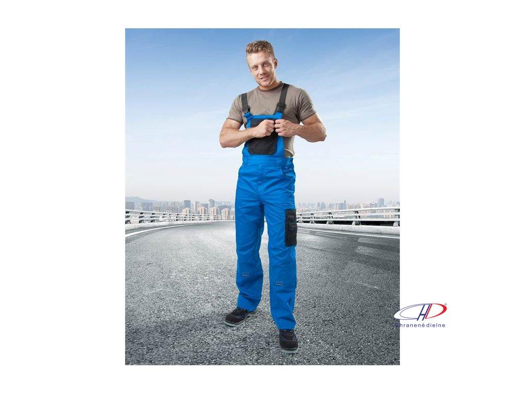 Nohavice s náprsenkou 4TECH 03 modro-čierne 46