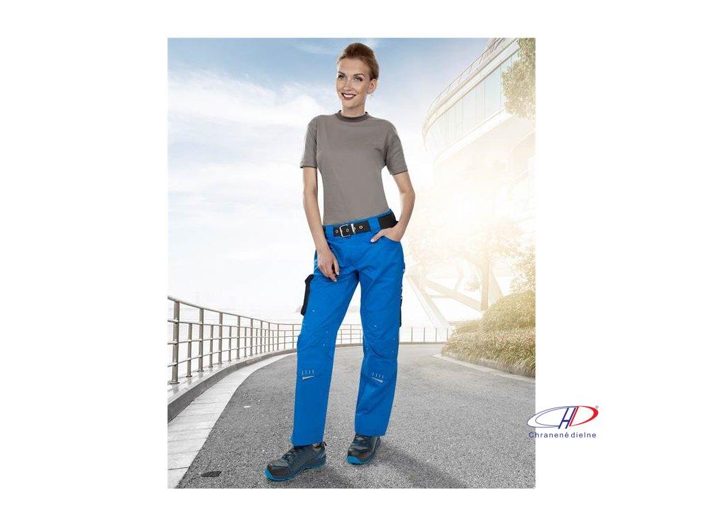 Dámske nohavice do pása 4TECH 02 modro-čierne, 164-172 38