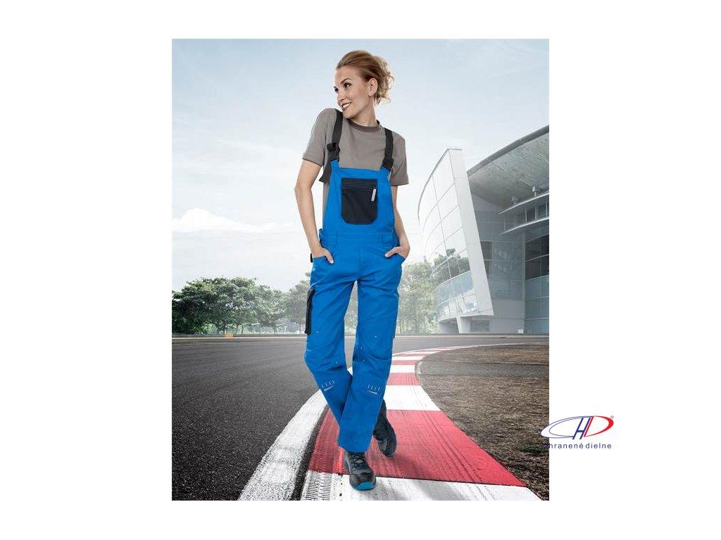 Dámske nohavice s náprsenkou 4TECH 03 modro-čierne, 164-172 38