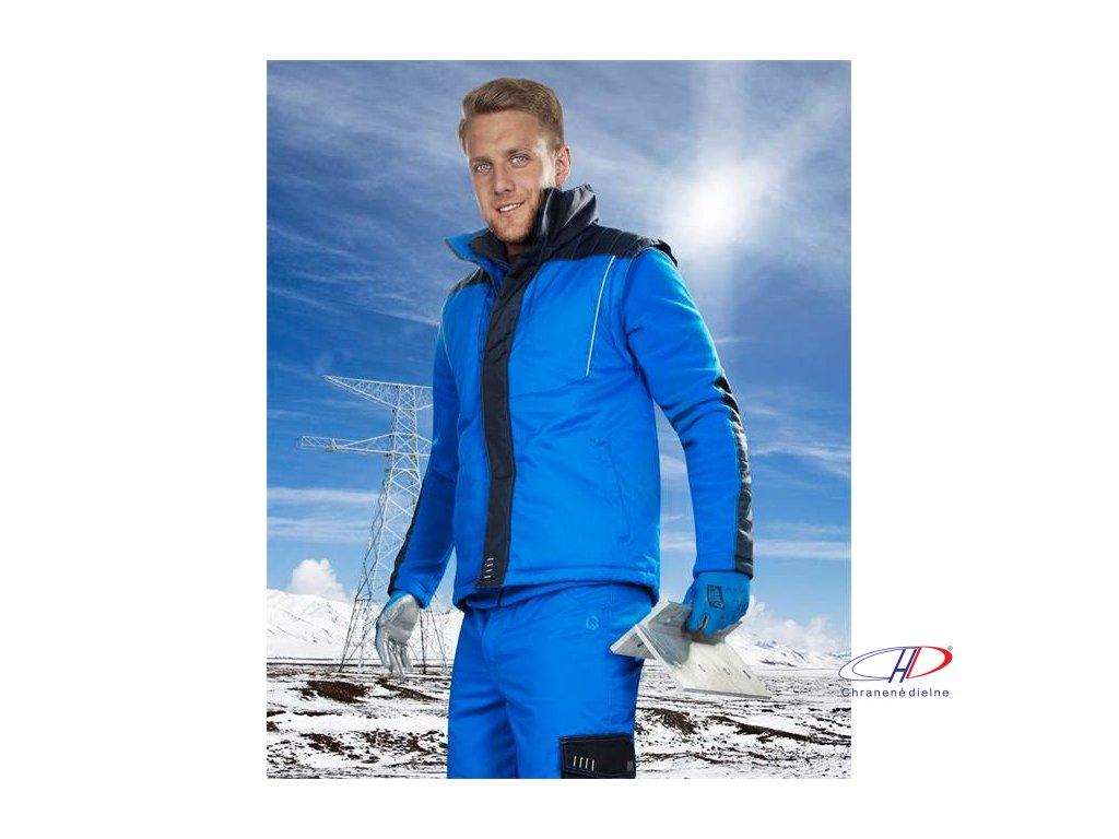 4TECH 06 zimná vesta modrá M