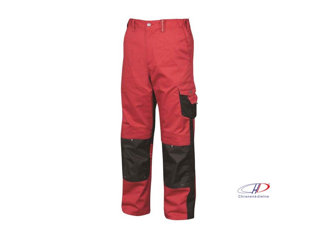 Nohavice do pása PRE100 02 červeno-čierne 64