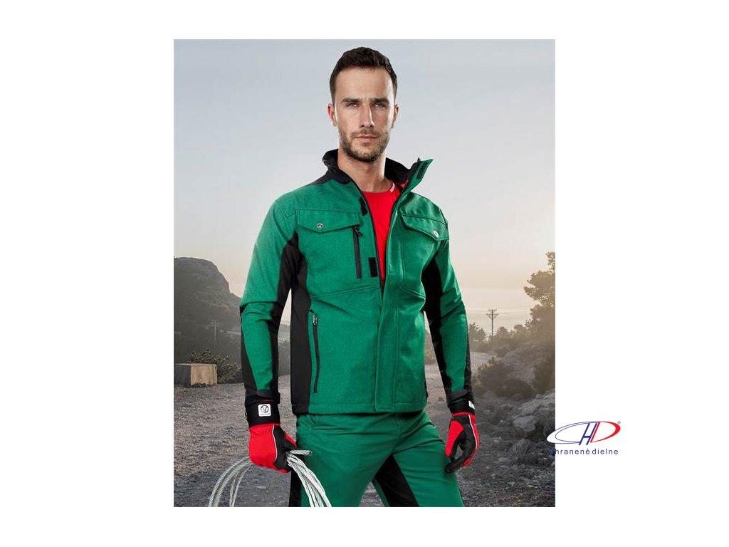 PRE100 soft. bunda zeleno-čierna S