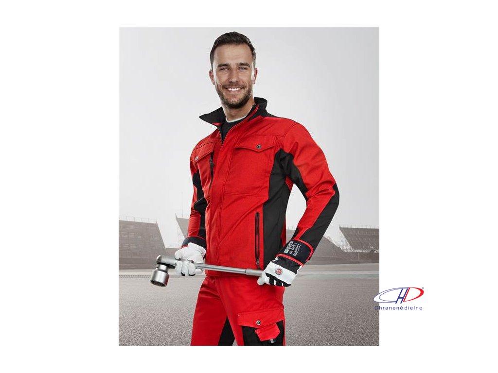 PRE100 soft. bunda červeno-čierna S
