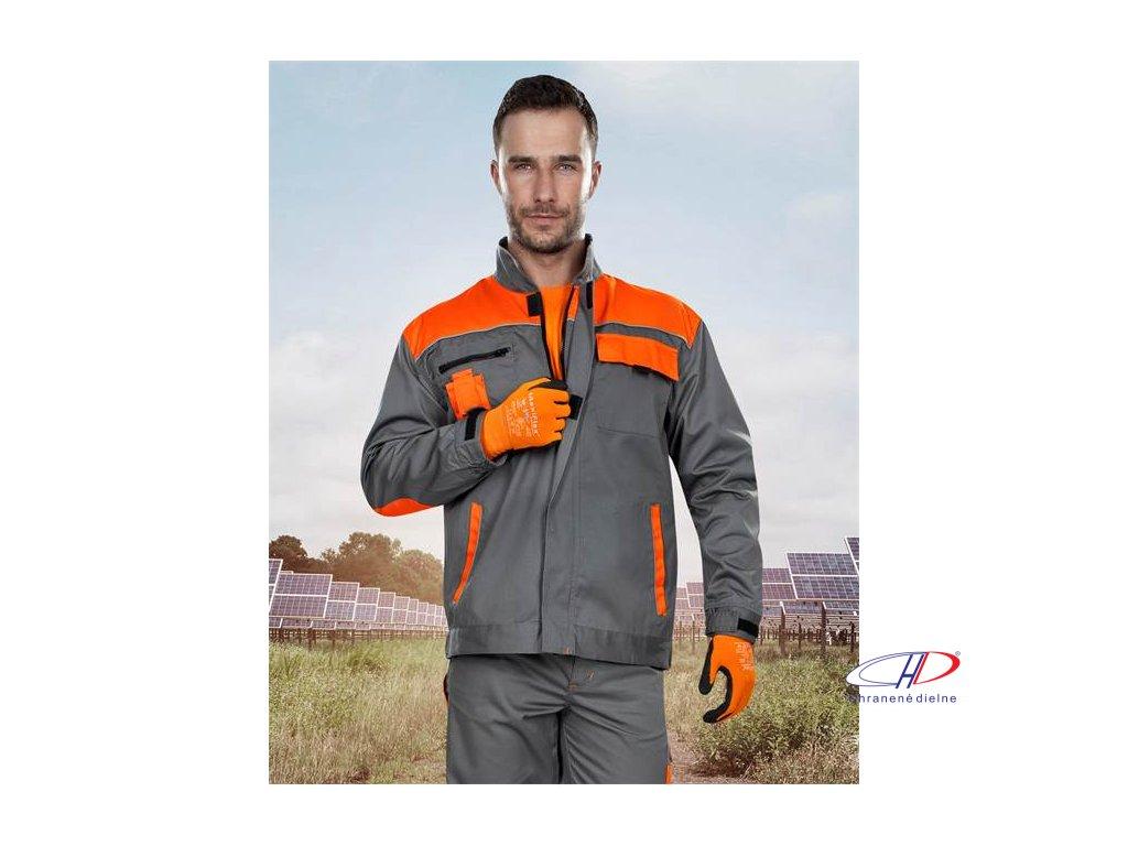 Blúza 2strong 01 sivo-oranžová 46