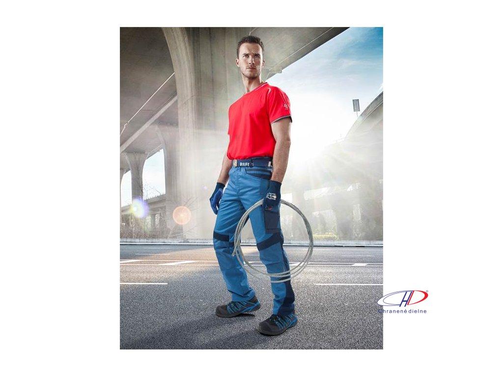Nohavice do pása R8ED+ modrá, skrátené 46