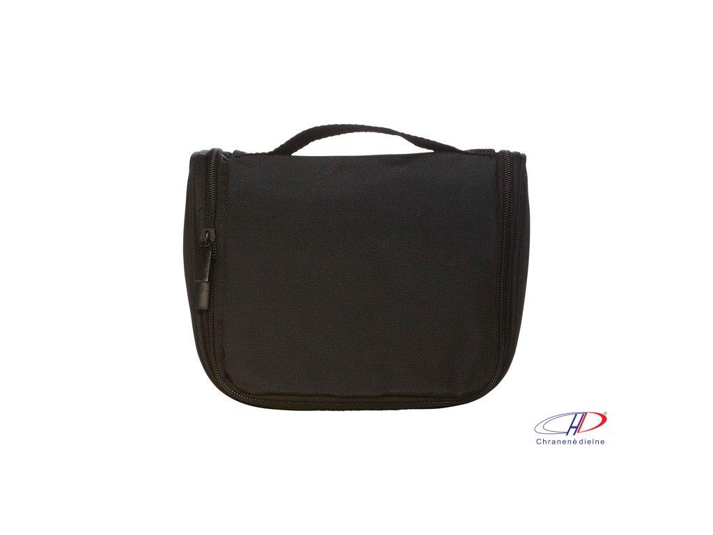 Toaletná/cestovná taška z PES (600D) , Black