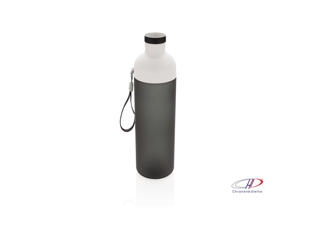 Nepriepustná tritanová fľaša Impact, 600ml , Black, White
