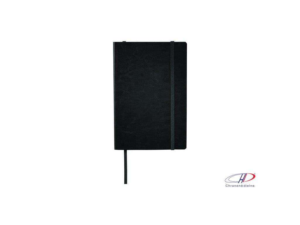 Zápisník A5 , solid black