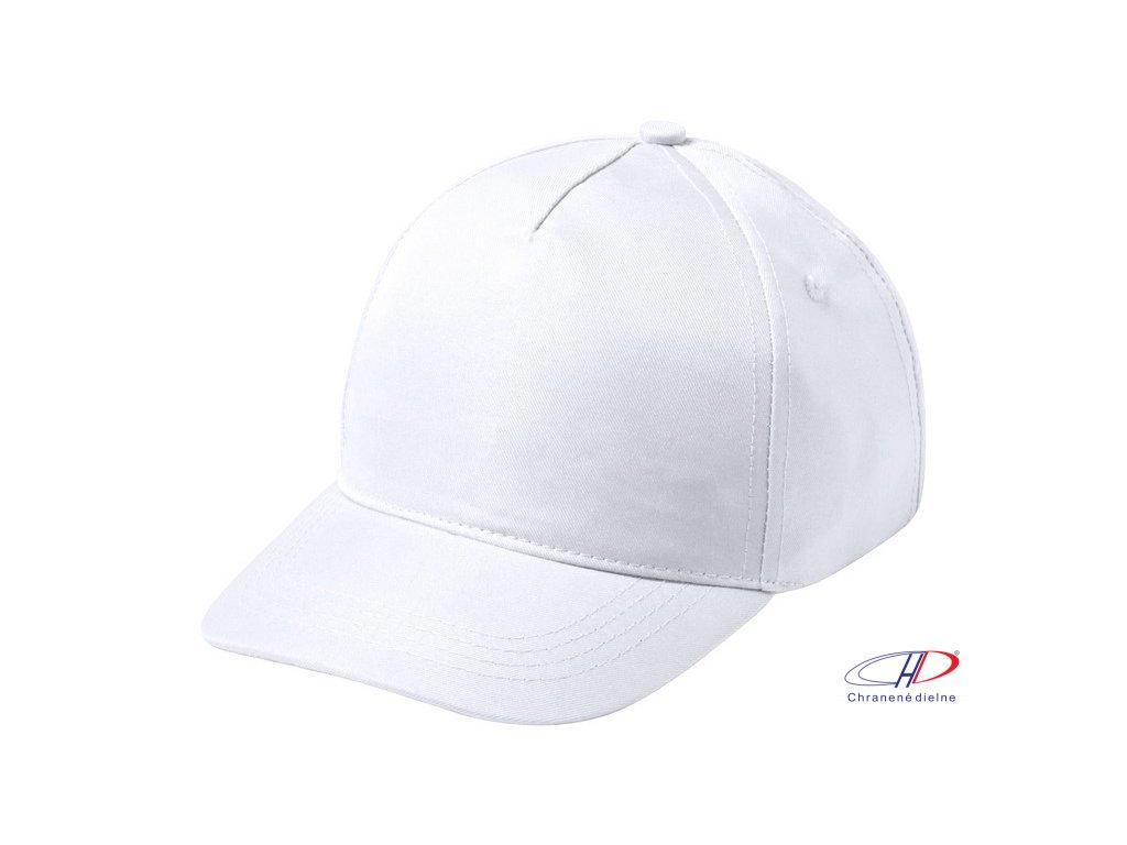 Baseballová čiapka pre deti, 5 panel , white