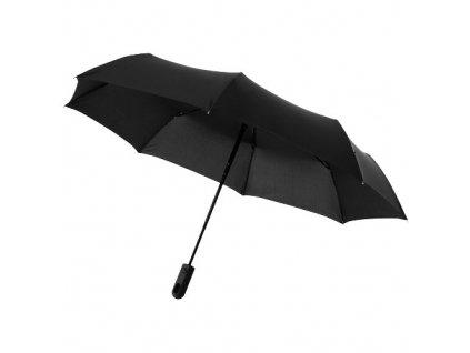 Automatický 3-dielny skladací dáždnik, priemer 98 cm , solid black