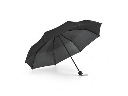 Skladací dáždnik v puzdre, 3-dielny, priemer 96 cm , Black