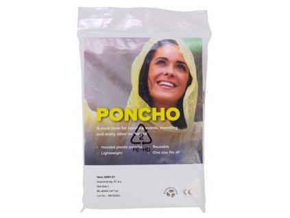 Biodegradovatelné PE pončo , neutral
