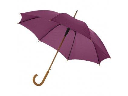 Automatický dáždnik s drevenou rúčkou, priemer 106 cm , Burgundy