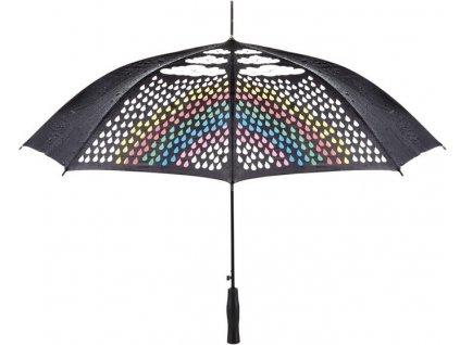 Automatický dáždnik s meniacou sa farbou, priemer 105 cm , Black