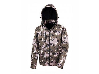 Camo TX Performance Hooded Softshell Jacket , camo green, S