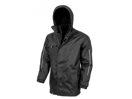 3-in-1 Transit Jacket with Printable Softshell Inner , Black, S