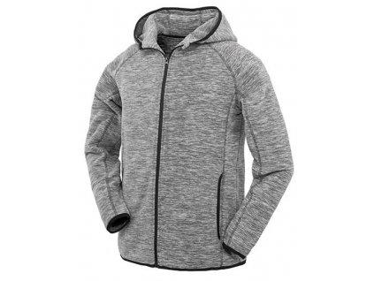 R245M•Mens Microfleece Hoodi , grey/black, S