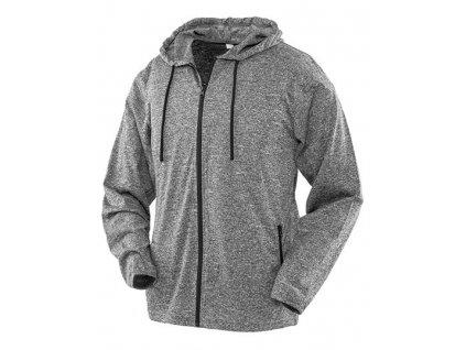 R277F•Womens Hooded Tee-Jacket , Grey Marl, S