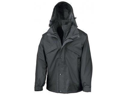 3-in-1 Zip & Clip Jacket , Black, S