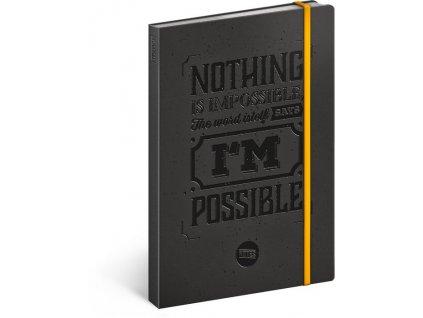 Motivačný notes, linajkovaný, 13 × 21 cm