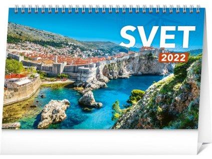 Stolový kalendár Svet 2022, 23,1 × 14,5 cm
