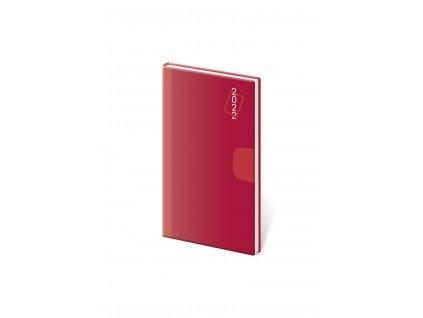 Diár týždenný vreckový Vario , Red