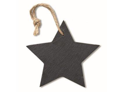 Bridlicová závesná hviezdička , Black