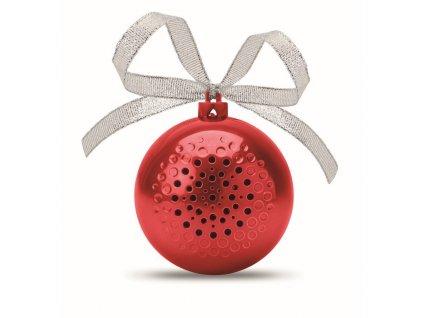 Bluetoot reproduktor - vianočná guľa , Red