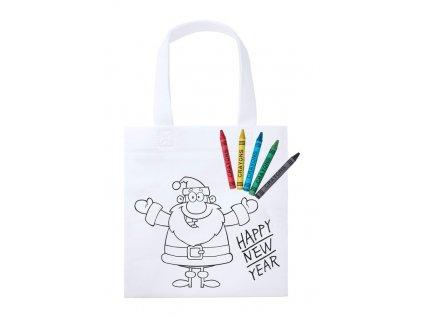 Nákupná taška na vyfarbenie , white