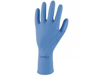Rukavice SEMPERVELVET modré S 07