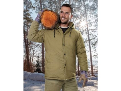 Kabát vatovaný NICOLAS, zelený L