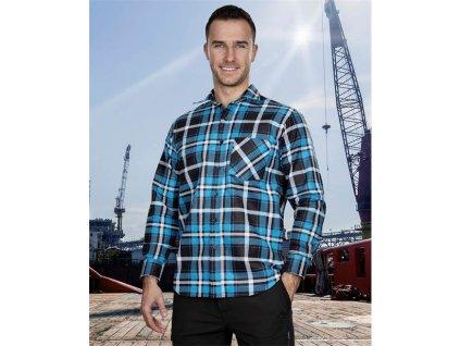 Flanelová košeľa JONAH, modrá 39-40