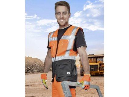 Manažérska výstražná vesta oranžová SIGNAL S