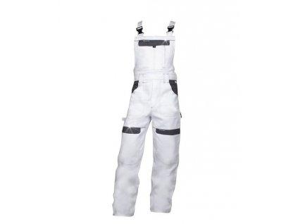 Nohavice s náprsenkou COOL TREND bielo-sivé 46