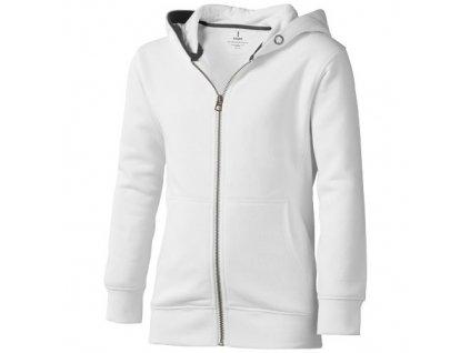 Elevate•Arora hooded full zip kids sweater , white, 104