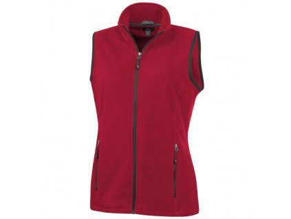 Elevate•Dámska vesta Tyndall z materiálu micro fleece•100% polyester , Red, XS