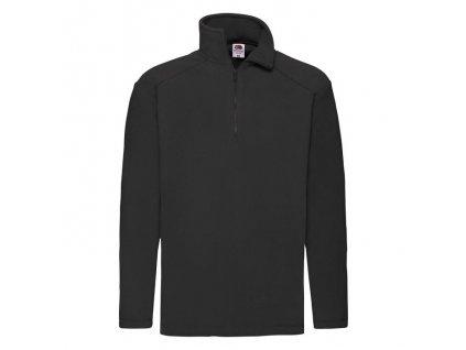 F46•Half-Zip Fleece , Black, S