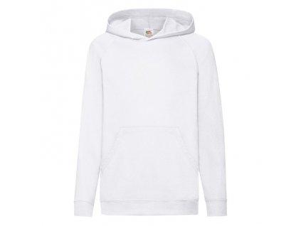 FN18•Kids Lightweight Hooded Sweat , white, 5//6