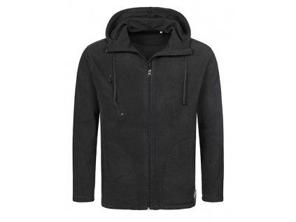 HS122•Hooded Fleece Jacket , BLACK OPAL, S