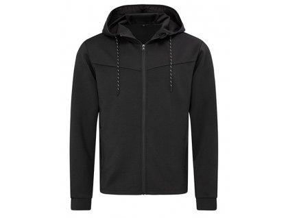 HS164•Recycled Scuba Jacket , BLACK OPAL, S