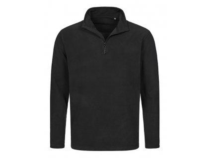 HS21•Fleece Half-Zip , BLACK OPAL, S