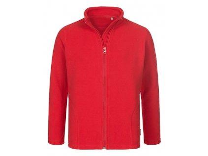 HS60•Fleece Jacket Kids , scarlet red, S